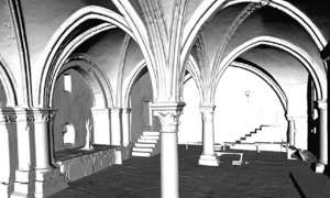 The Cenacle Room - snapshot of the 3D mesh showing details of the interior