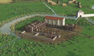 Real time Unity 3D visualisation of Saint Laurentius church and environment in 1300